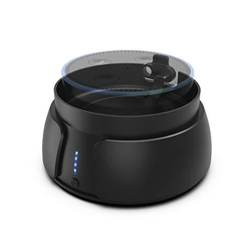 Hama Batteriestation (für Amazon Echo Dot (2nd Gen.), 6000 mAh Ladestation, tragbar, Batterie Docking Station, Akku-Station, inkl. Ladefunktion geeignet für Smartphone/Tablet)