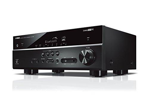 Yamaha RX-V485 MC AV-Receiver (Netzwerk-Receiver mit 5.1 Music Cast Surround-Sound - für die perfekte Heimkino-Unterhaltung – Kompatibel mit Alexa Sprachsteuerung) schwarz