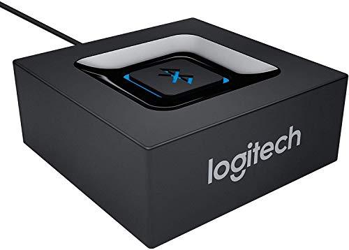 Logitech Kabelloser Bluetooth Audio-Empfänger, Multipoint Bluetooth, 3,5 mm & Cinch-Eingang, Pairing-Taste, 15 m Reichweite, EU Stecker, PC/Mac/Tablet/Handy/AV-Receiver/Stereoanlage - schwarz