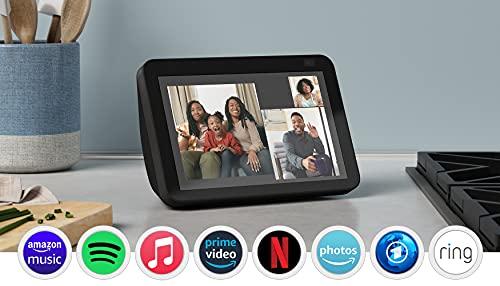 Der neue Echo Show 8 (2. Generation, 2021) | HD-Smart Display mit Alexa und 13-MP-Kamera | Anthrazit