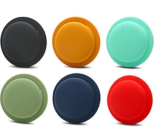 [6er Pack] Silikonhülle Kompatibel mit Neuen Apple Air-Tags 2021, Kratzfestes, Leichtes, Weiches Hautschutzzubehör