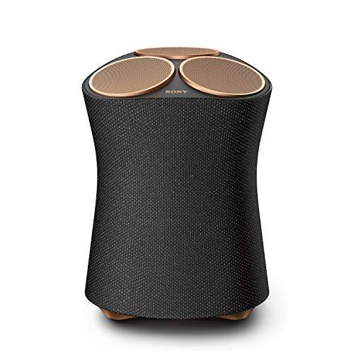 Sony SRS-RA5000 Bluetooth Lautsprecher mit Multiroom Unterstützung (7 Treibereinheiten für raumfüllenden Klang, 360 Reality Audio, Hi-Res Audio, Wi-Fi) Schwarz