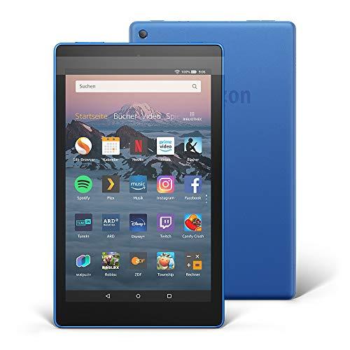 Fire HD 8-Tablet, Zertifiziert und generalüberholt, 16 GB, Blau, mit Spezialangeboten (vorherige Generation – 8.)