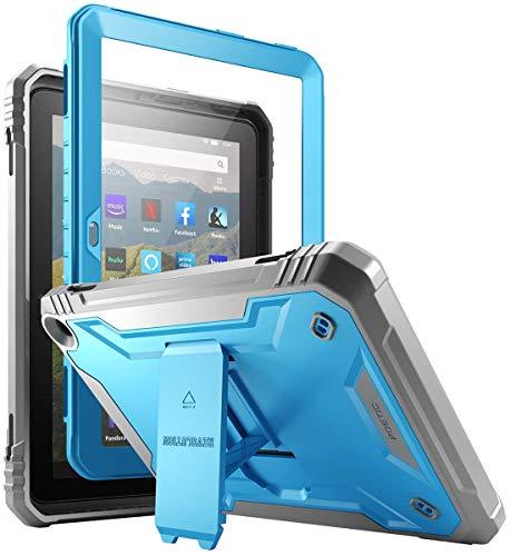 POETIC Revolution-Serie für Kindle Fire HD 8-Tablets und Fire HD 8 Plus-Tablets (10.Generation,2020) Robustes Kickstand-Gehäuse, Ganzkörper-Hochleistungsgehäuse mit integriertem Displayschutz, Blau