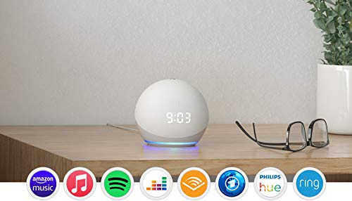 Echo Dot (4. Generation) | Smarter Lautsprecher mit Uhr und Alexa | Weiß