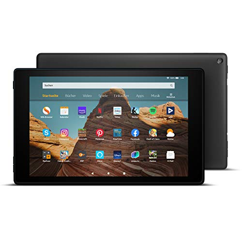 FireHD10-Tablet│10,1Zoll großes FullHD-Display (1080p), 64 GB, Schwarz, Mit Werbung