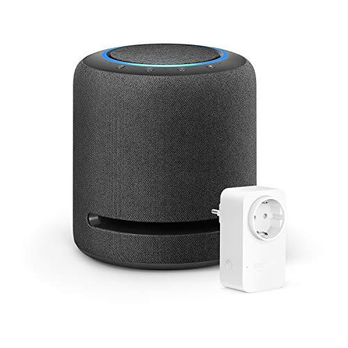 Echo Studio + Amazon Smart Plug (WLAN-Steckdose), Funktionert mit Alexa