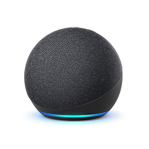 Der neue Echo Dot (4. Generation)   Smarter Lautsprecher mit Alexa   Anthrazit