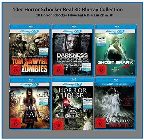10er Horror Schocker Real 3D Blu-ray Collection (10 Filme in 2D + 3D)