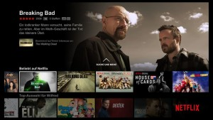Die Oberfläche von Netflix (Screenshot)