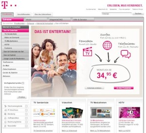 Screenshot Telekom
