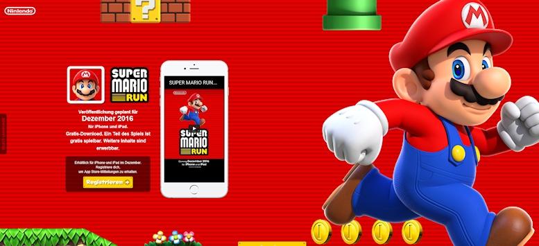 Nintendo: SUPER MARIO präsentiert sich exklusiv auf iPhone und iPad