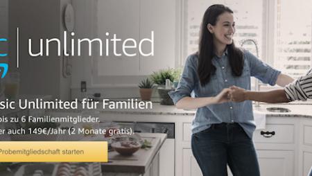 Amazon Music Unlimited: ab sofort auch mit Familien-Mitgliedschaft