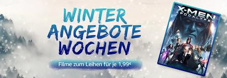 Winter Angebote Wochen bei Amazon: Filme ausleihen für 1,99 Euro