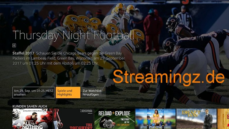NFL Football Fire TV