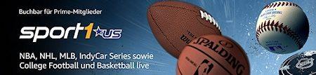 SPORT1 US: Amazon Channel zeigt Spitzensport aus den USA