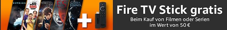 Filme oder Serien für 50€ kaufen: Fire TV Stick gratis erhalten