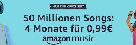 Amazon Music Unlimited: Vier Monate nur für 99 Cent!