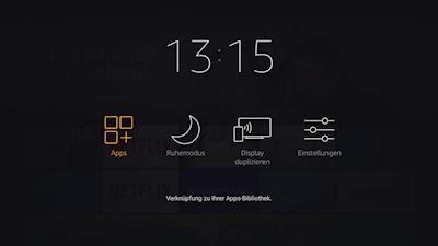 Fire TV Stick 4K: Aufruf Miracast (Screenshot)