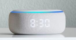 Echo Dot mit Uhr